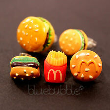 FUNKY BOYS MENS SINGLE FAST FOOD EARRING FUN COOL KITSCH KAWAII SWEET RETRO JUNK