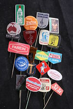 Lot of 20 Dutch Netherlands Manufacturer Lapel Pin Badge Vintage Soccer Sign Ads