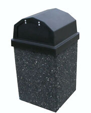 Trash Can {Pepper (Black Stone) with Spring Loaded Doors and Liner}