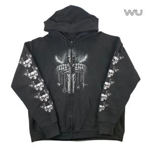 Wild Skull Metal Hoodie - Black - Size XXL