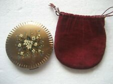 Vintage  1960s Floral Pattern Stratton Powder Compact Case ( no powder pouch )