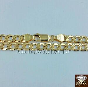 REAL 14k Men Gold Cuban Link Bracelet 8 inch Strong Link 7.5mm