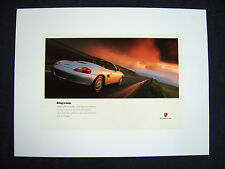 "PORSCHE OFFICIAL BOXSTER "" MAP "" FACTORY SHOWROOM POSTER 1997 NEW USA"