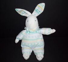 VTG Carters Prestige Terry Bunny Plush ABC Letters Slippers Baby Stuffed Animal