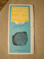National Railways of Mexico - Timetable - Brochure - Summer 1961