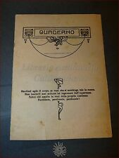 QUADERNO Scolastico Liberty Anni '20 '30 con Tavola Pitagorica e Tabella Lezioni