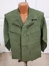 Coat Mans Cotton Wind Resistant Rip Stop Poplin OG-107 1968 Vietnam Green Beret