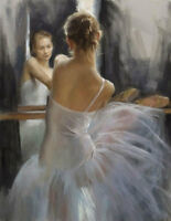 ZWPT599 100% hand painted portrait dancing girl art oil painting on canvas