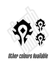 3 x Horde set vinyl sticker decal car sign World Of Warcraft