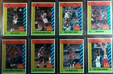 Lot of 8: Rare Pink Back 1990 McDonald's Sports Tips Michael Jordan #1 thru #8