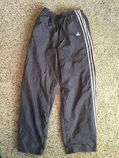 Adidas Men's Lined Gray Gym Pants Xl Button Legs Kd1