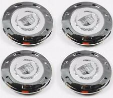 "4 PCS NEW  2007-2013  CADILLAC ESCALADE PLAIN CREST 22"" WHEEL CENTER CAP 9596649"