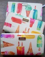 KATE SPADE NWT SHORE STREET Ice pop PRINT ice cream  Stacy multi color Wallet