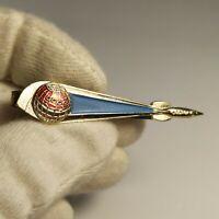 "RARE Tie clip badge Sign Space Rocket SPUTNIK ""Vostok"" USSR Space programm"