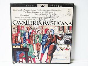 2 LP Box Opera Cavalleria Rusticana SIGNED BY VICTORIA DE LOS ANGELES & SERENI !