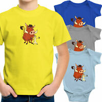 Timon and Pumbaa Toddler Kid Youth Tee T-Shirt Infant Baby Bodysuit Lion King