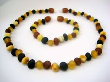 BEAUTIFUL SET OF RAW BALTIC AMBER CHILDREN'S NECKLACE AND BRACELET