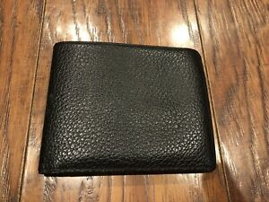 NEW Authentic BURBERRY London Black Leather Bifold Mens Unisex Wallet-RARE-$1400