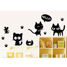 Cat Removable Nursery Decals Living Room Furniture Decor Art Wall Sticker Mural