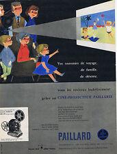 PUBLICITE ADVERTISING 074 1957 PAILLARD ciné projecteur M 8
