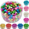 100x Assorted Beads Small Christmas Jingle Bell Pendants Charms DIY Crafts Decor