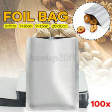 100PCS Aluminum Foil Mylar Bag Heat Sealer Food Storage Package Vacuum Bag