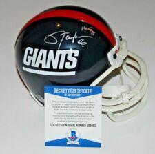 LAWRENCE TAYLOR signed (NEW YORK GIANTS) mini football helmet BECKETT BAS