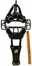 Briefly Used! All-Star Fm25 Catcher'S Mask Face Protection Black + Throat Guard!