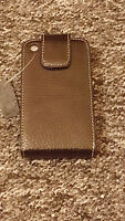 New Genuine Black Leather Flip Case Cover Pouch For Apple iPhone 3 3G 3S 3GS
