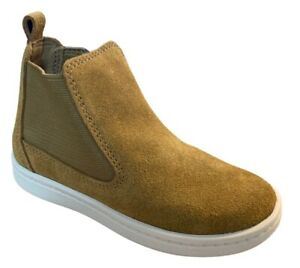 BNIB Clarks Boys Toddler Street Chelsea Oak Suede Boots F/G Fitting