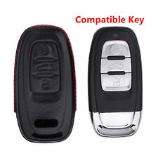 For Audi Key Cover Genuine Leather Hot Holster Smart Car Remote Fob Case Shell