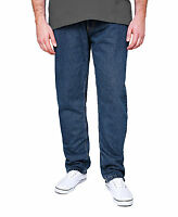 New Men's Rockford Stretch Denim Jeans Blue & Black Regular Big Kingsize Zip Fly