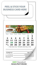 (300) 2021 Magnetic Business Card Calendars - Standard Edition