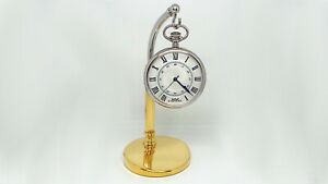 Pewter Exhibitor Pocket Watches Pedestal Column STEEL BICOLOR NEW