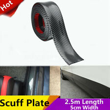 2.5M Carbon Fiber Color Scuff Plate Door Sill Cover Panel Step Protector Guard