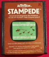 STAMPEDE (ActiVision, Atari 2600, 1981) Cartridge Only,Tested recently and works