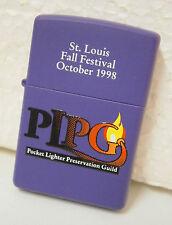 PLPG St. Louis Fall Festival 1998 Zippo Lighter .