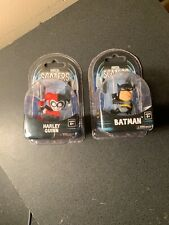 NEW NECA DC COMICS SCALERS LOT OF 2 FIGURES BATMAN HARLEY QUINN CORD HANGERS