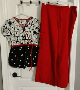 Disney Minnie Black Top w/ Red Bottom - Women's Mock Wrap Top -  Size Medium