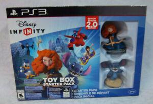 PS3 Disney Infinity Toy Box Starter Pack Brave Meridia Stitch Figures