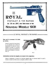 Beistegui Hermanos 1931-Mauser Le Royal Pistolet Manual
