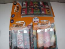 Lot de 11 briquets maxi Bic. Football/rolling stones/sun sea surf