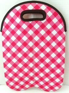 Pink & White Wine /Bottle Holder 2part 13in