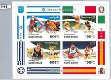 Basketball Sheet Sports Postal Stamps