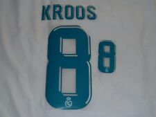 NEW Kroos 8 2017-18 Madrid Home Iron On Name & Number Set For Football Shirt