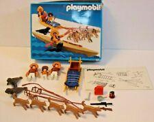 Vintage Playmobil #3466 Eskimo Dog Sled ( almost complete)