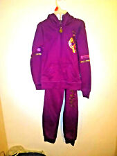 baby phat girls purple with sequins sweat suit sise sm (7/8) (b5)