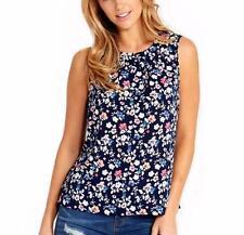 Dotti Floral Regular Size Sleeveless Tops for Women