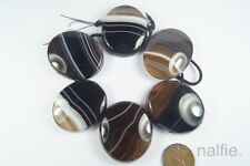 ANTIQUE VICTORIAN PERIOD ENGLISH BANDED AGATE BRACELET EASY PROJECT c1880