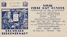 Insert ad, Vivid Cachet Service (Edward Warneford), 1938